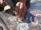 手彫り彫刻の風合い